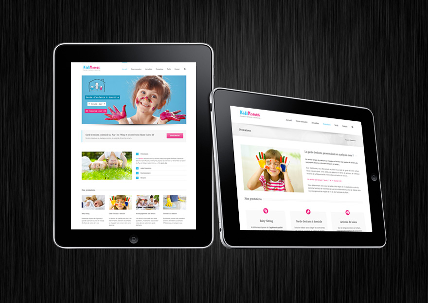 Création du site internet kidimomes