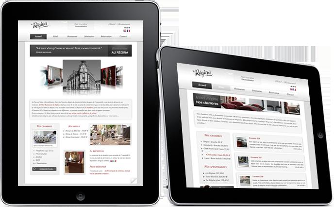 Création du site web Hotel Régina au Puy-en-Velay