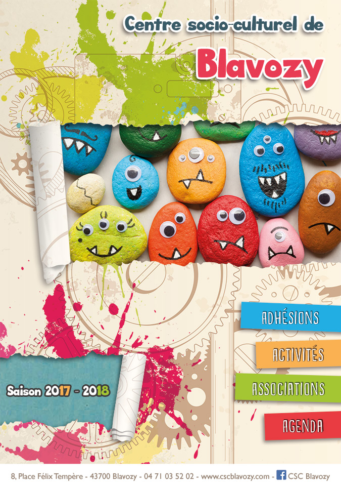 Création Brochure du Centre socio culturel de Blavozy saison 2017-2018