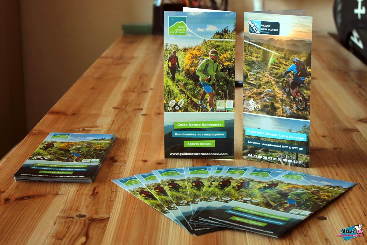 Dépliant Guides Nature Randonnée / École MCF